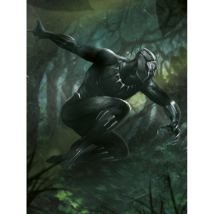 Black Panther - Forest Chase Tablou Canvas, (60 x 80 cm)