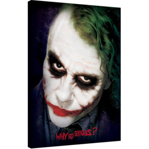 The Dark Knight - Joker Face Tablou Canvas, (60 x 80 cm)