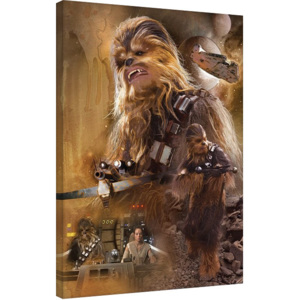 Star Wars Episode VII: The Force Awakens - Chewbacca Art Tablou Canvas, (60 x 80 cm)