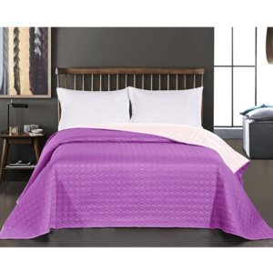Cuvertură reversibilă din microfibră DecoKing Salice Purple, 170 x 210 cm, mov