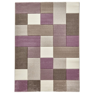 Covor Think Rugs Brooklyn, 120 x 170 cm, bej - violet