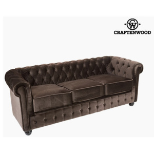 Canapea Chesterfield de 3 Locuri Кадифе Maro - Relax Retro Colectare by Craftenwood