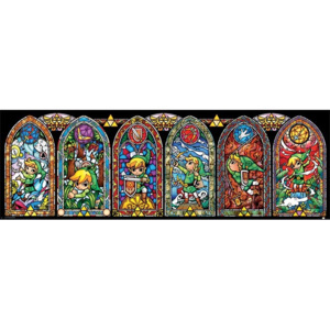 The Legend Of Zelda - Stained Glass Poster, (91,5 x 30 cm)