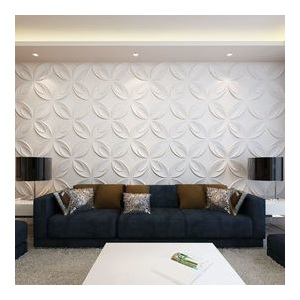 Panou decorativ 3D floare, 0,3 m x 0,3 m, 66 plăci 6 m²