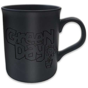 Green Day - Flowerpot Logo Matt Black Cană