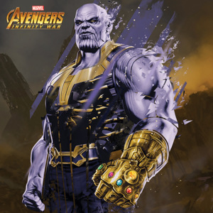 Avengers Infinity War - Thanos Fragmented Tablou Canvas, (40 x 40 cm)