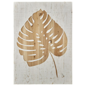 Tablou din lemn Graham & Brown Tropical Leaf, 50 x 70 cm