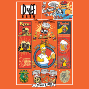 The Simpsons - Duff Poster, (61 x 91,5 cm)