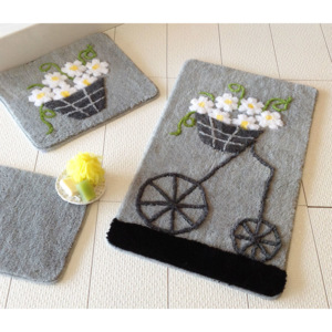 Set covorase baie Chilai Home by Alessia, 351ALS2009, 3 Piese, acril