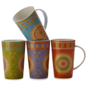 Set 4 Cani Zanzibar, Mugs, 420 ml