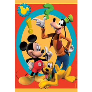 Covor Disney Kids Club House Mickey & Goofy 015, Imprimat Digital