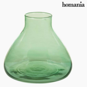 Vază din Sticlă Reciclată Verde - Crystal Colours Deco Colectare by Homania