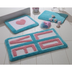 Set 3 covorase baie, Alessia Home, Love - Turquoise