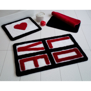 Set 3 covorase baie, Alessia Home, Love - Red