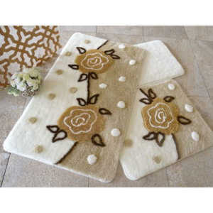 Set 3 covorase baie, Alessia Home, Oriel - Beige
