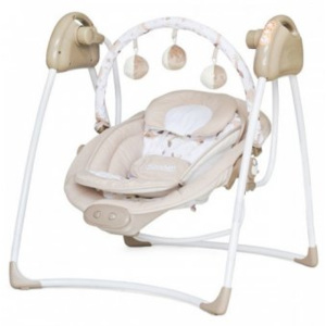 Leagan Electric si Balansoar Chipolino Fun Life - Beige Sheep