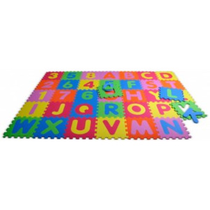 Covor Puzzle din Spuma 36 piese - Alphabet and Numbers