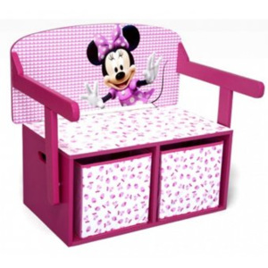 Mobilier Depozitare Jucarii 2 in 1 - Disney Minnie Mouse