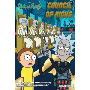 Rick and Morty - Council Of Ricks Poster, (61 x 91,5 cm)