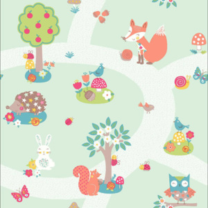 Arthouse Tapet - Forest Friends Forest Friends Mint
