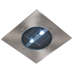 Lucide SOLAR 14875/01/12 Incastrate in pamant crom mat 3xLED SOLAR 12x12x5 cm