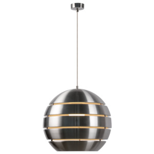Lucide VOLO 17453/40/12 Pendule moderne crom 1xE27 max. 60W d40x35 cm