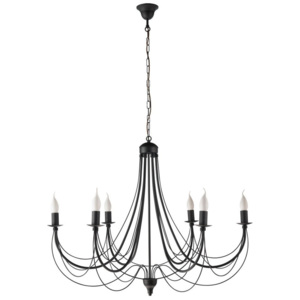 Namat ADRIANA 2072 Lustre, candelabre negre 6xE14 max. 40W 80x95 cm