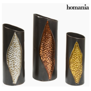 Set de 3 vase din metal by Homania
