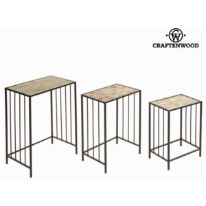 Set de trei mese din metal by Craften Wood