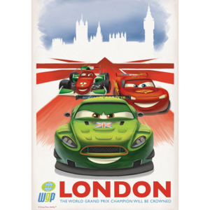 Fototapet: Cars 2 WGP London (reclamă) - 184x254 cm