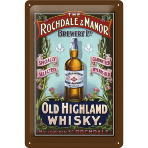 Placă metalică - Old Highland Whisky