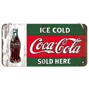 Placa metalica cu snur - Coca-Cola (Ice Cold Sold Here)