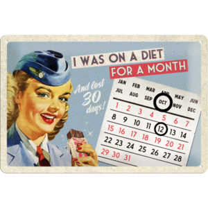 Placă metalică - I Was on Diet (calendar)