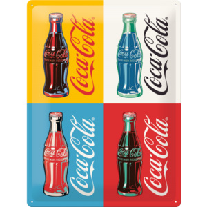 Placă metalică: Coca-Cola Pop Art (2) - 40x30 cm