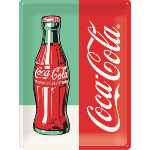 Placă metalică: Coca-Cola Pop Art (1) - 40x30 cm