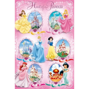 Poster - Disney princess castles
