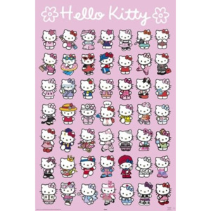 Poster - Hello Kitty (postavy)