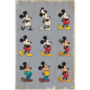 Poster - Mickey Mouse (Evoluție)