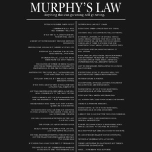 Poster - Murphy's law