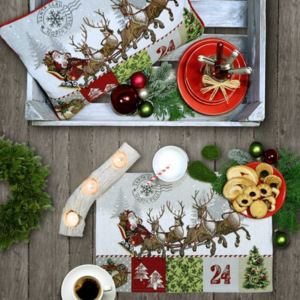 PLACEMAT Santa s Ride 32*48 - Christmas Collection