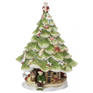 Decoratiune portelan X-mas tree large with children Christmas toys memory - Christmas Collection
