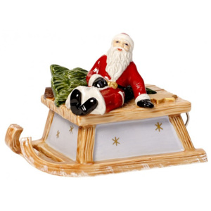 Decoratiune muzicala Sleigh with Santa Nostalgic melody - Christmas Collection