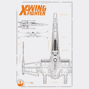 Poster - Star Wars VII (X-Wing)