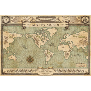 Poster - Fantastic Beasts and Where to Find Them (Mappa Mundi)