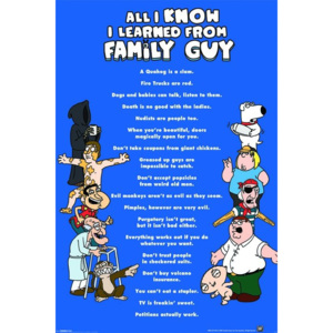Poster - Family Guy All I Know