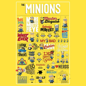 Poster - Despicable Me, Infografice
