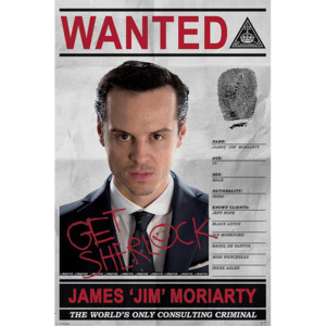 Poster - Sherlock (Moriarty Wanted)