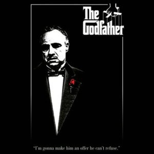 Poster - Godfather red rose