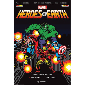 Poster - Heroes of Earth (8bit)