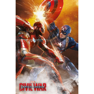 Poster - Captain America Civil War (duel)